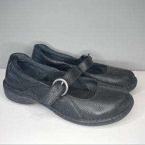 Born Black Leather Buckle Shoes Womens Size 6,5